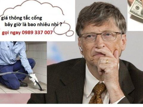 Thông tắc cống giá bao nhiêu ? tại Hà Nội